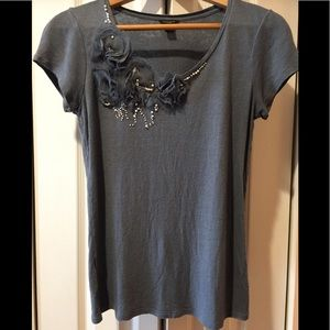 Beautifully Embellished Ann Taylor Soft & Sexy Tee